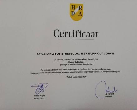 Opleiding tot Stress en burn-out coach